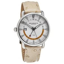 STUHRLING MEN'S CUVETTE 42MM OSTRICH LEATHER BAND SWISS QUAR