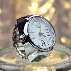 Women Dial Quartz Analog Finger Watch Creative Steel Cool Ri