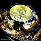 Mens Invicta Pro Diver Scuba Gold Plated Steel Chronograph S