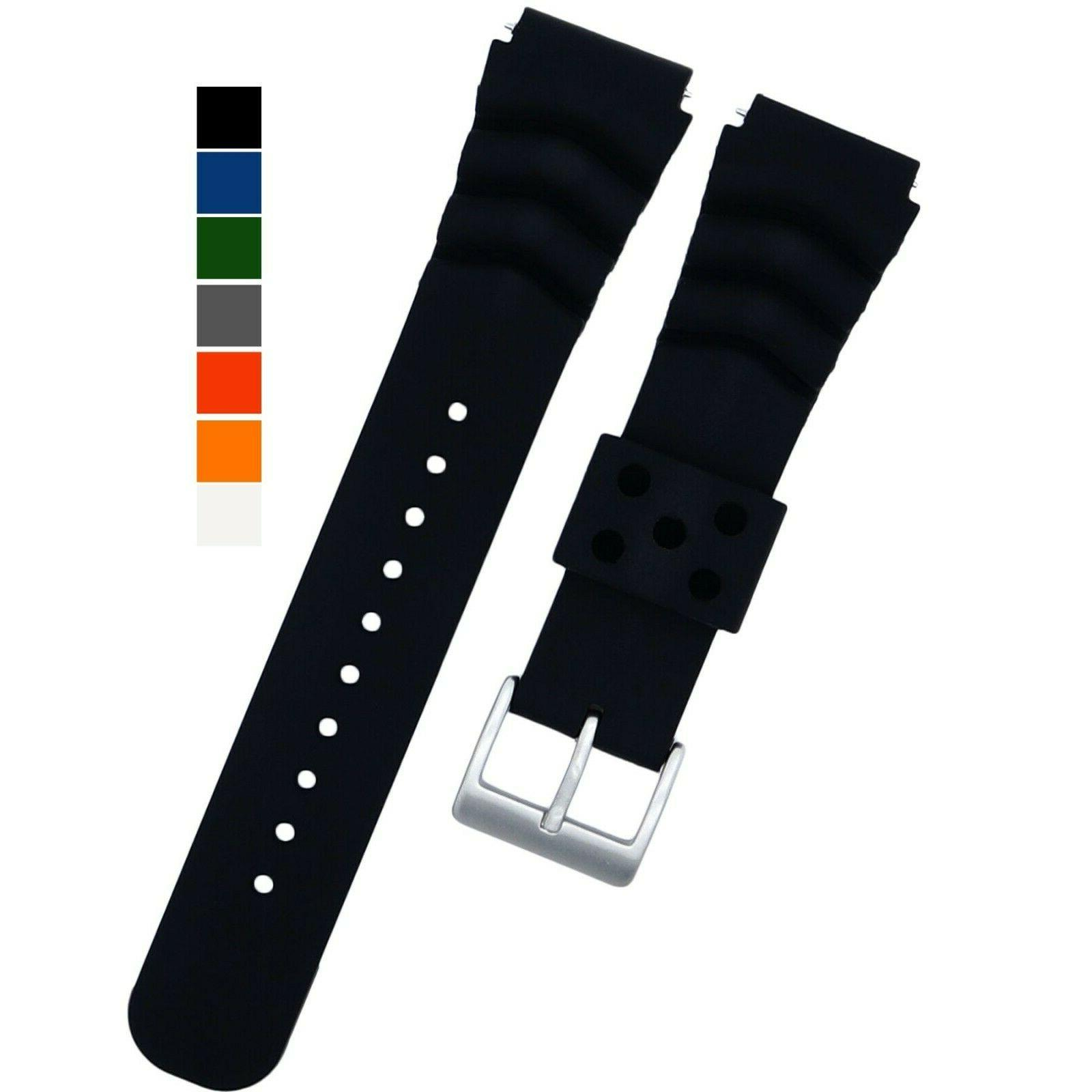 diver watch band silicone 22mm made
