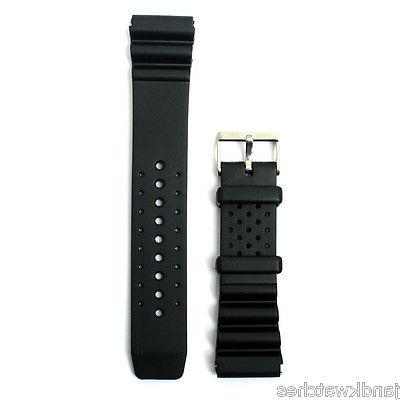 divers waterproof replacement resin sports watch band