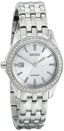 Citizen Eco-Drive Women's EW1901-58A Silhouette Crystal Anal