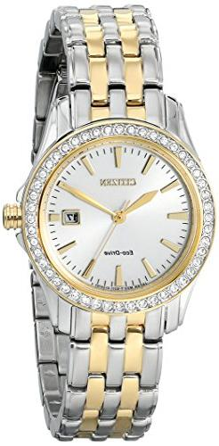 Citizen Eco-Drive Women's EW1908-59A Silhouette Crystal Anal