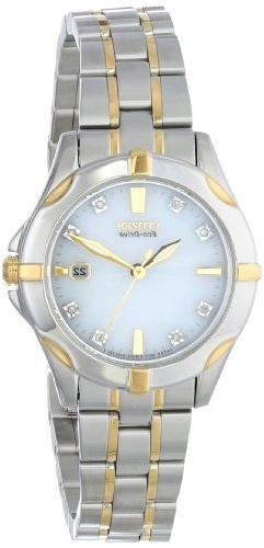 Citizen Eco-Drive Women's EW1934-59A Stainless Steel Two-Ton