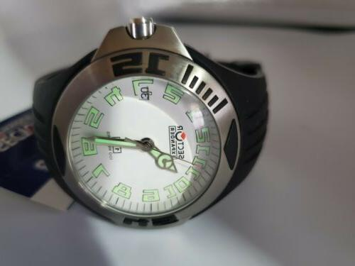Sector 40mn White Dial Watch Rubber