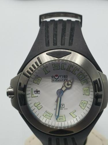 Sector Expander Date 40mn White Watch Band
