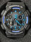 Casio G-Shock GA100-1A2 Ana-Digi Speed Indicator Black Dial