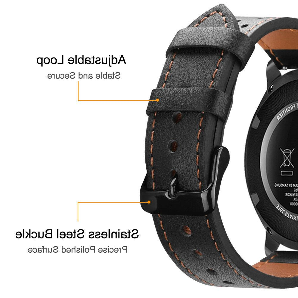 For Samsung Galaxy Watch 46mm / Gear Watch Bands 22mm Leather