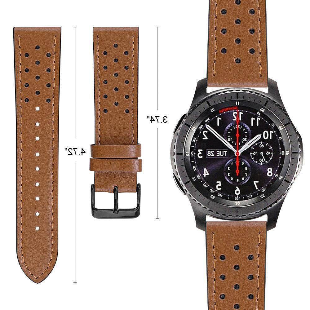 For 46mm / Gear Watch 22mm Leather