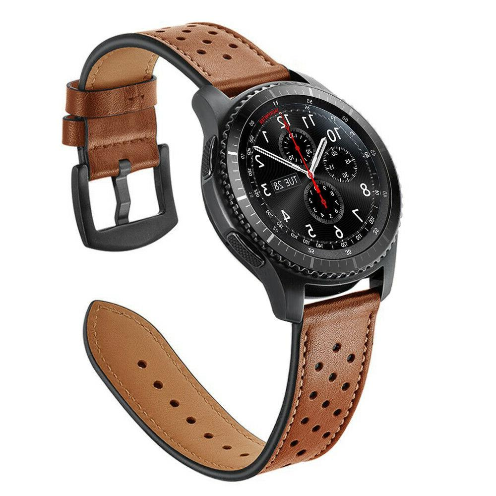 For Samsung 46mm / S3 Watch Bands 22mm Leather