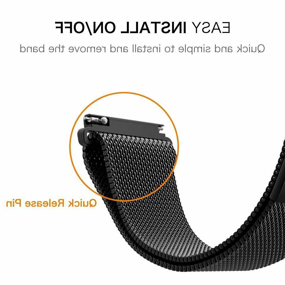 For Samsung Gear Sport/Gear S2 Classic Watch Band Milanese