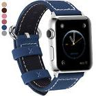 6 Colors Genuine Leather Apple Watch Band for iWatch Strap 3