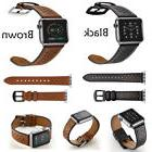 Genuine Leather Band Deployment Buckle Single Tour Strap for
