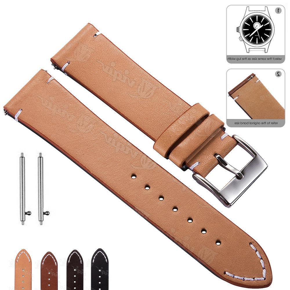 genuine leather watch band 18 20 22mm