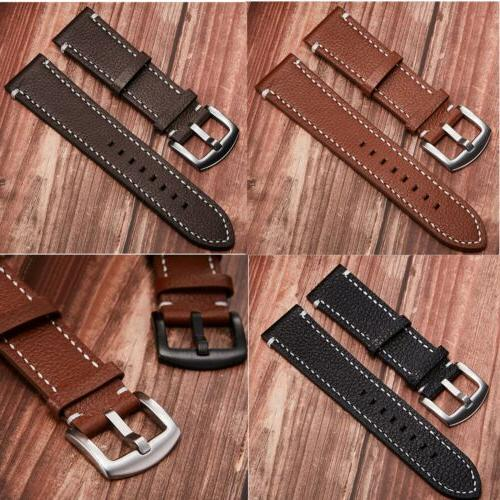 Genuine Leather Watch Band 20 22mm Wrist Strap For Fossil Qu