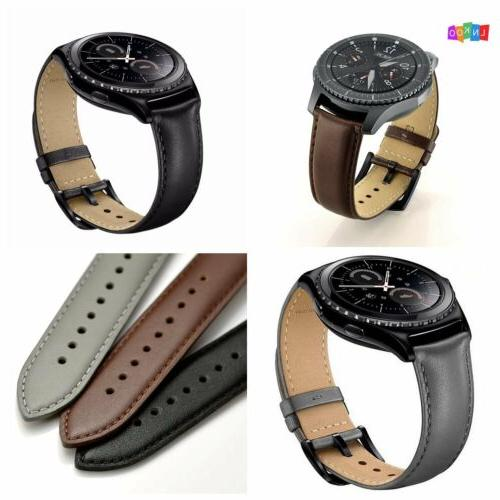 genuine leather watch band strap for samsung