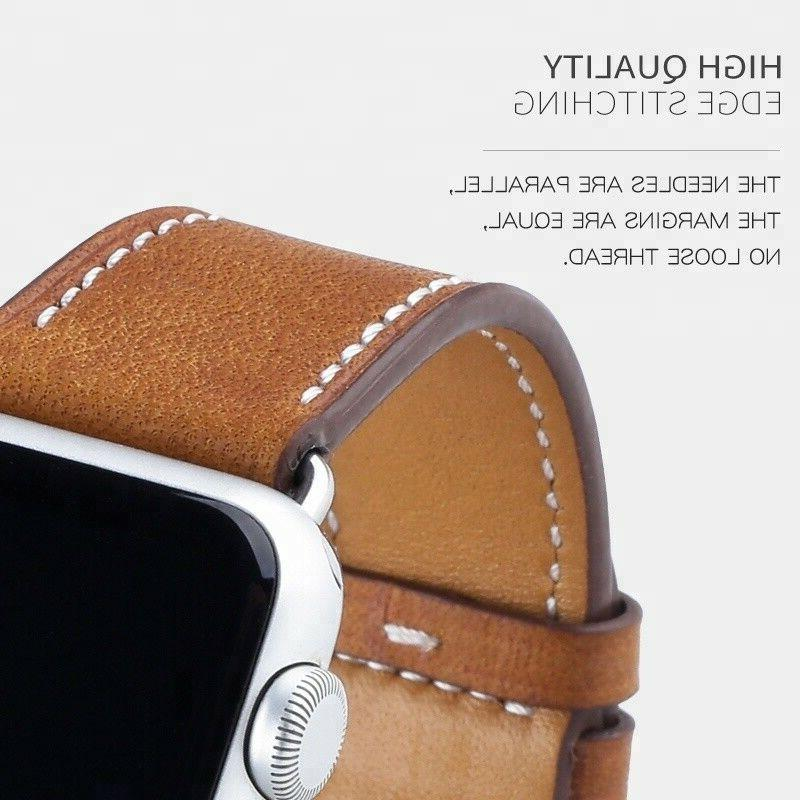 Genuine Leather For iWatch Band 38mm 42mm 4