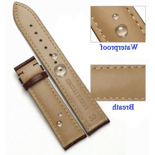 Genuine Wristwatch Strap Band Size 16-24mm Strap Belt