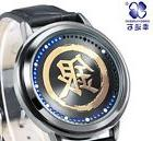 Gintama SILVER WORD LED waterproof Touch  black Wristband wr