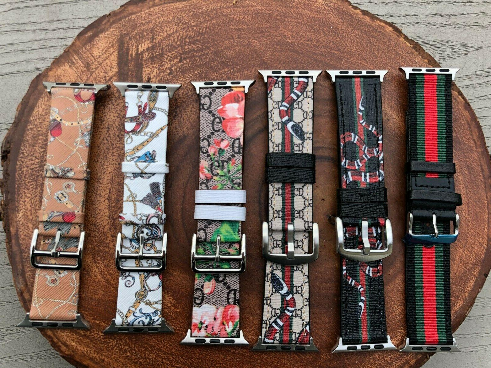 gucci apple watch band with leather sport