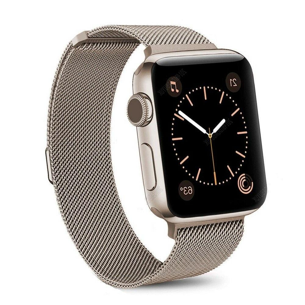 For Apple Series 5/4/3/2 Milanese Steel