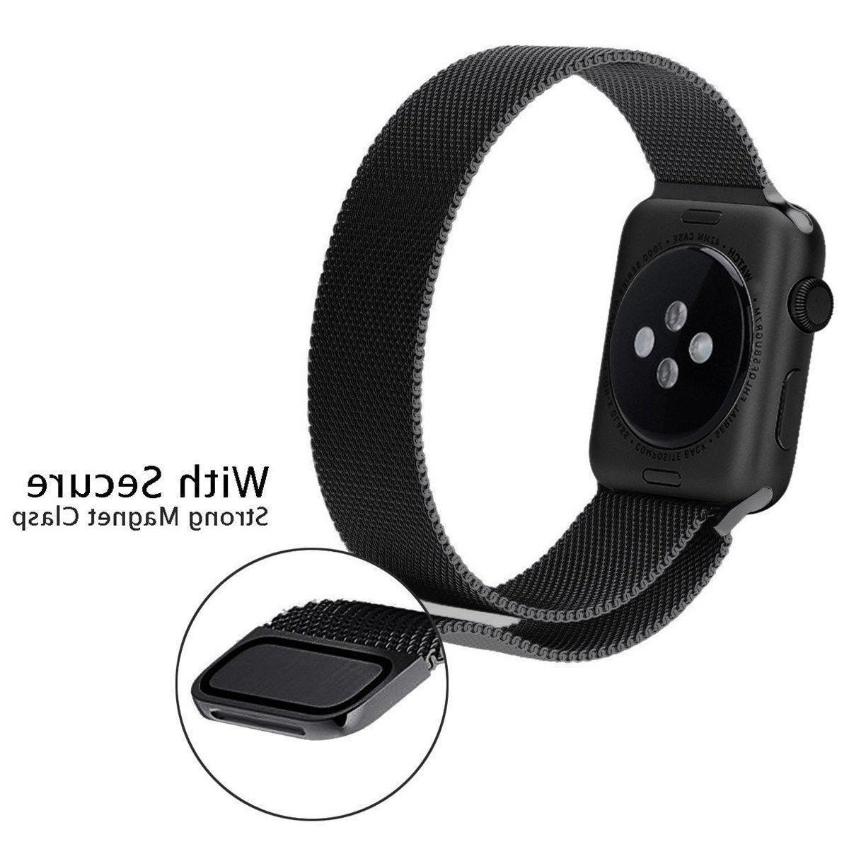 For Apple Watch Series Metal Band Strap Adjustable