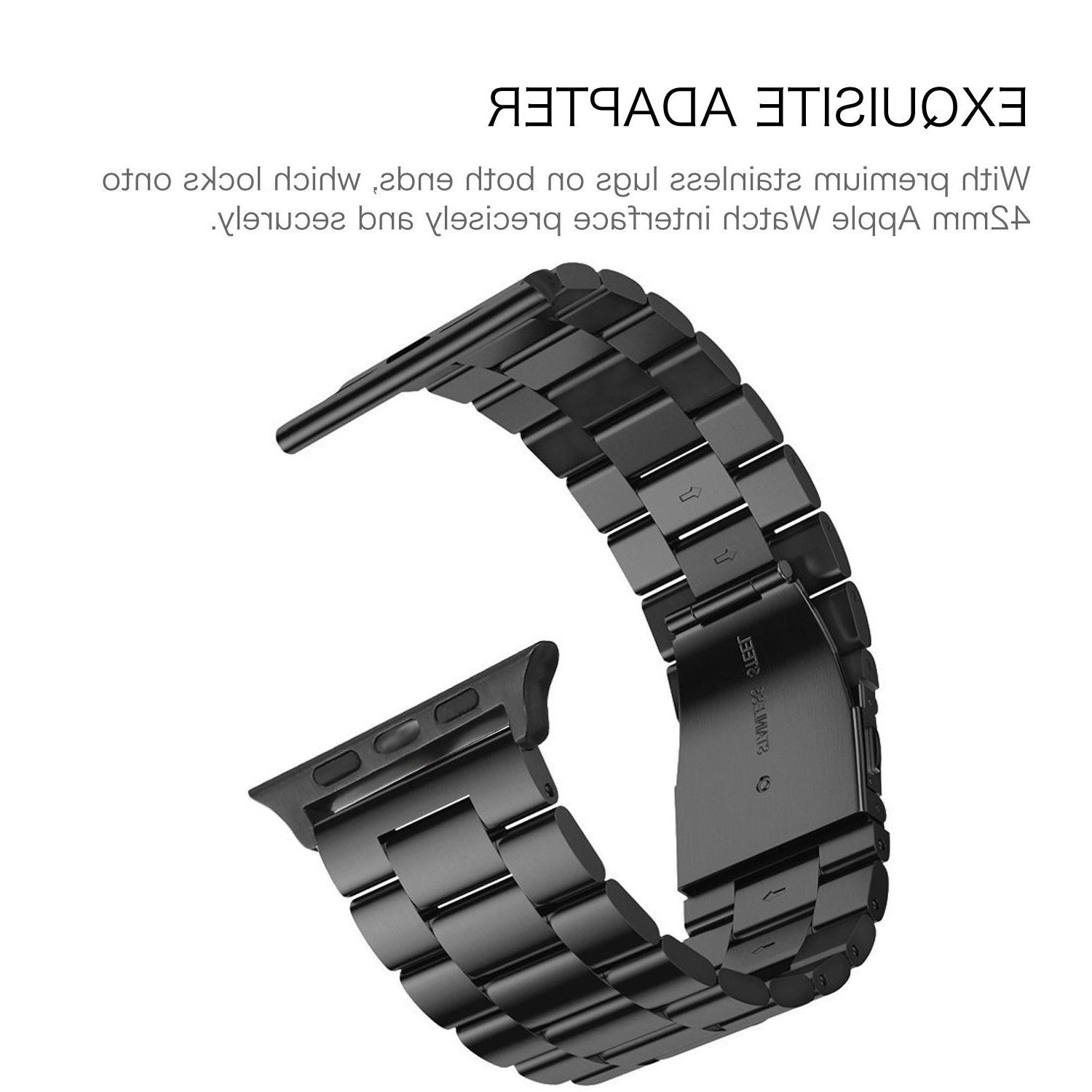 For iWatch Watch Series 4 44mm Stainless Bracelet