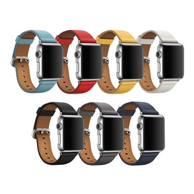 Leather Bracelet Strap For Apple 4 2 38mm/40mm/42mm/44mm