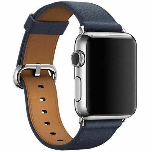 Leather Band Bracelet Strap For Apple 4 3 2 1 38mm/40mm/42mm/44mm