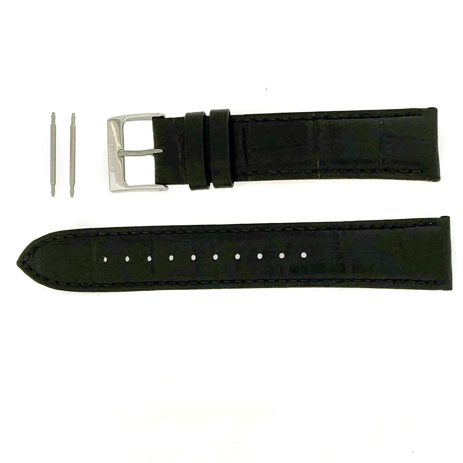 leather strap brown black 20mm factory original