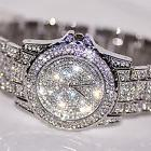 Luxury Women's Quartz watches Crystal Stainless steel Analog
