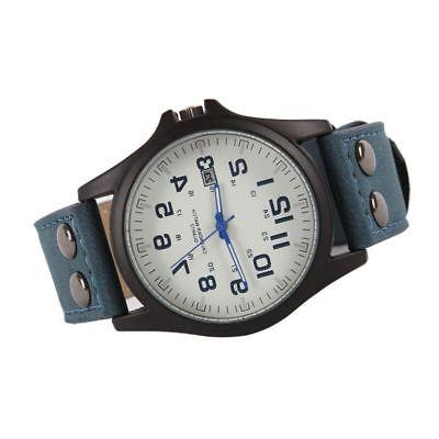 Men Sport Military Leather Wrist