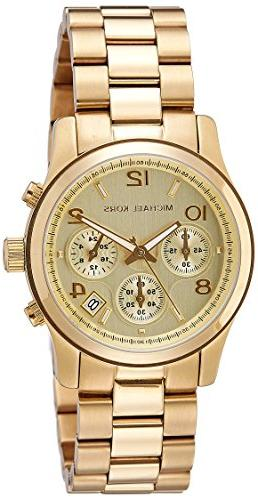 midsized chronograph gold tone watch
