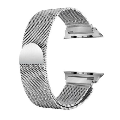 Milanese Magnetic Loop Stainless Watch Band For Apple Watch
