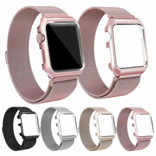 milanese stainless steel iwatch band strap