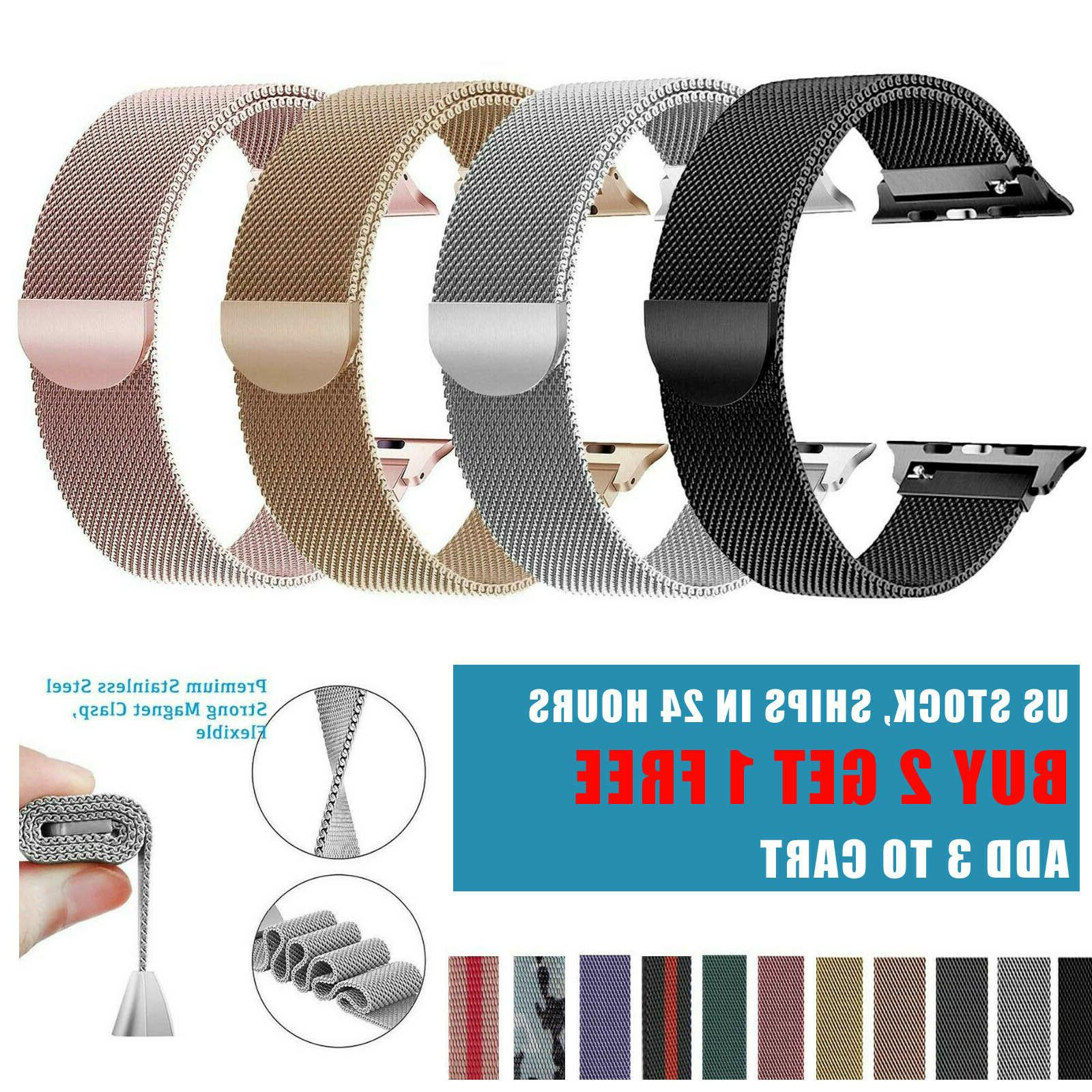 milanese stainless steel watch band for apple