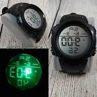 Men Fashion Military Stainless Steel Digital LED Date Sport