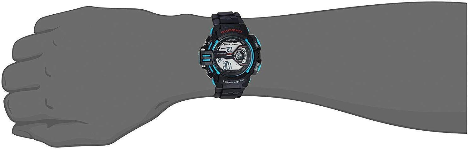 NEW Armitron Mens Sports Black And Strap Round Watch
