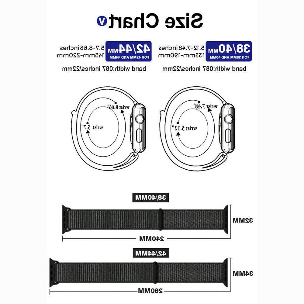 Nylon For 38/40/42mm/44mm iWatch Series 5 3