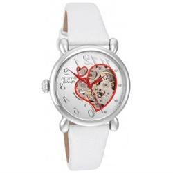 INVICTA MEN'S OBJET D ART WHITE LEATHER BAND STEEL CASE AUTO