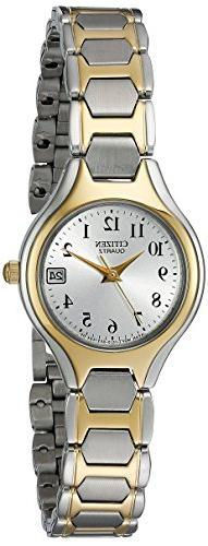 Citizen Quartz Date Two Tone Stainless Steel Bracelet Women'
