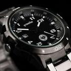 INFANTRY Mens Quartz Wrist Watch Date Gunmetal Black Stainle