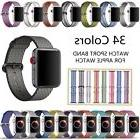Sports Royal Woven Nylon Wrist Band Strap Bracelet For Apple