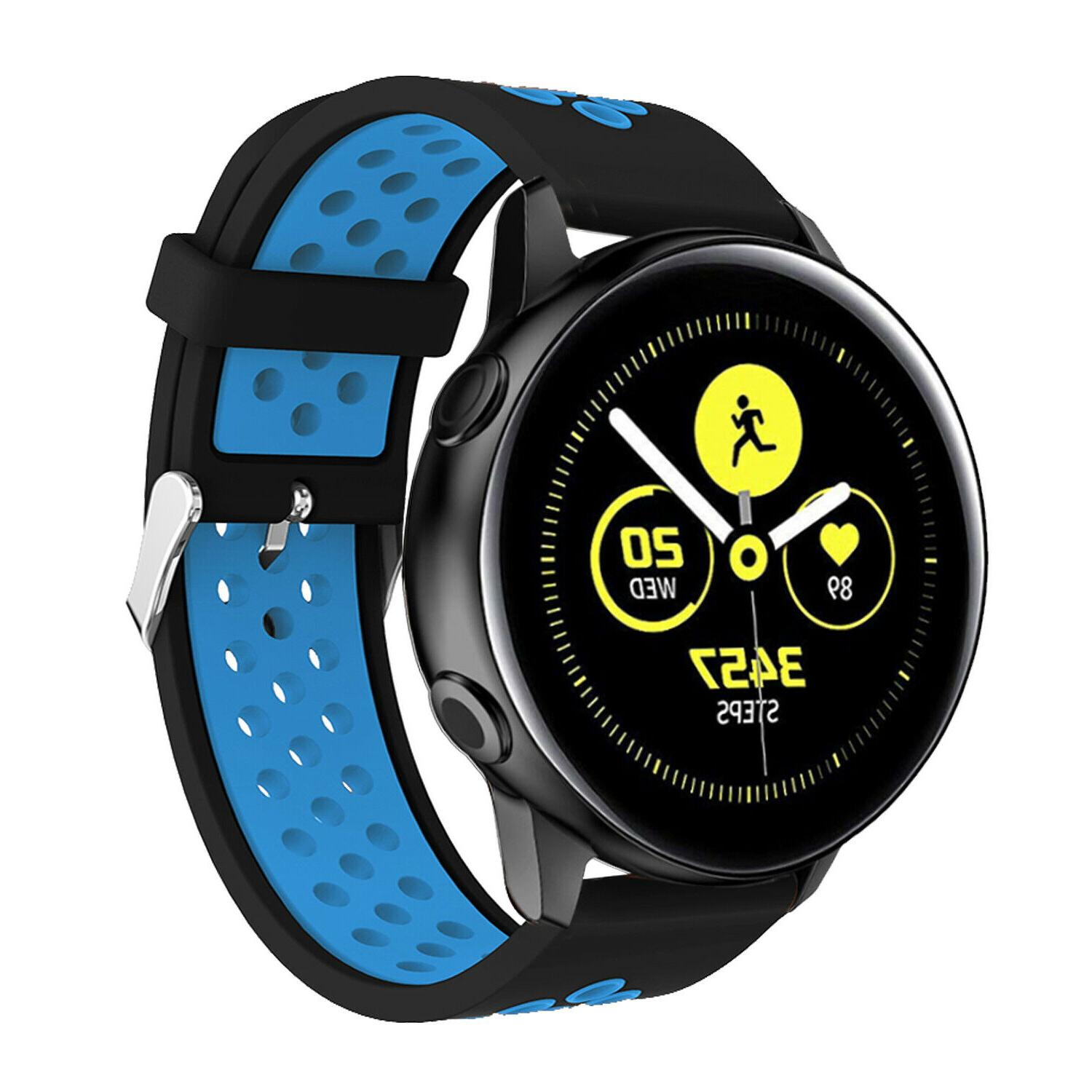 For Samsung Active 2 40mm 44mm Sport Silicone Strap