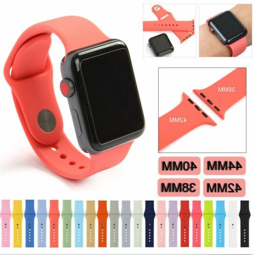 Silicone Band Bracelet Sports Bands Watch Series 2 3 4