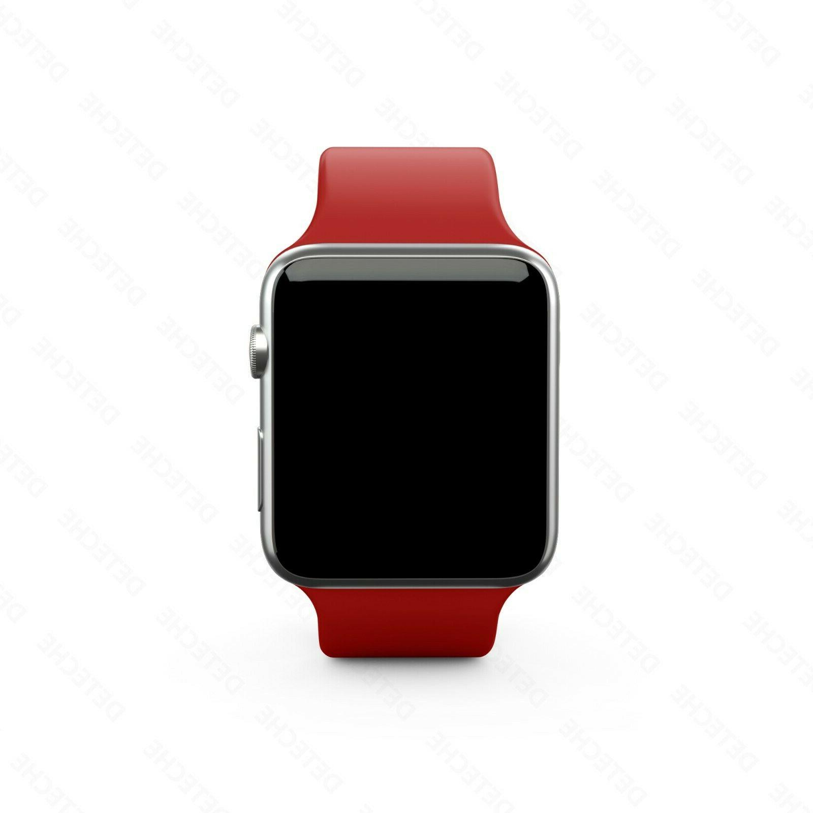 Silicone Band Strap Apple Watch iWatch Sports 38/40/42/44mm
