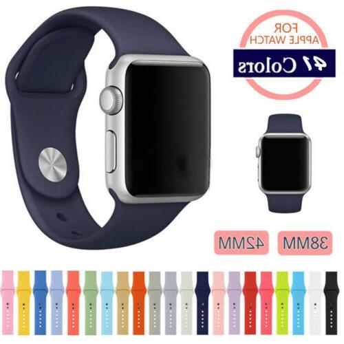 38/42mm Silicone Bracelet Band Strap For Apple Watch iWatch