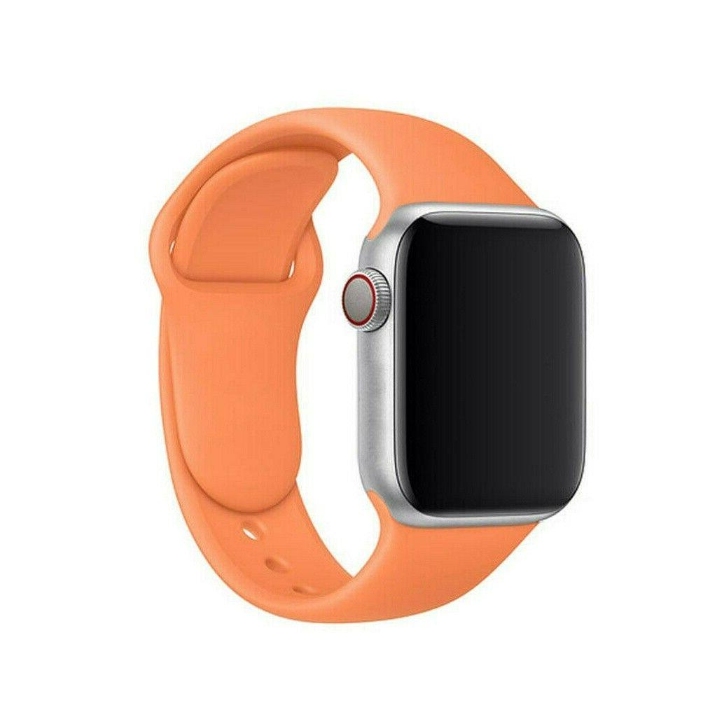 Silicone Nylon Strap Bands For Apple Watch Series