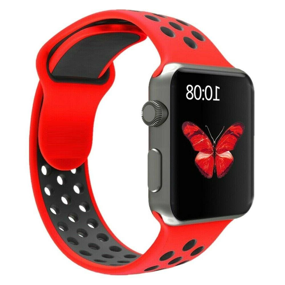 Silicone Watch Band Strap For iWatch 3 2 1 40/44/38/42mm