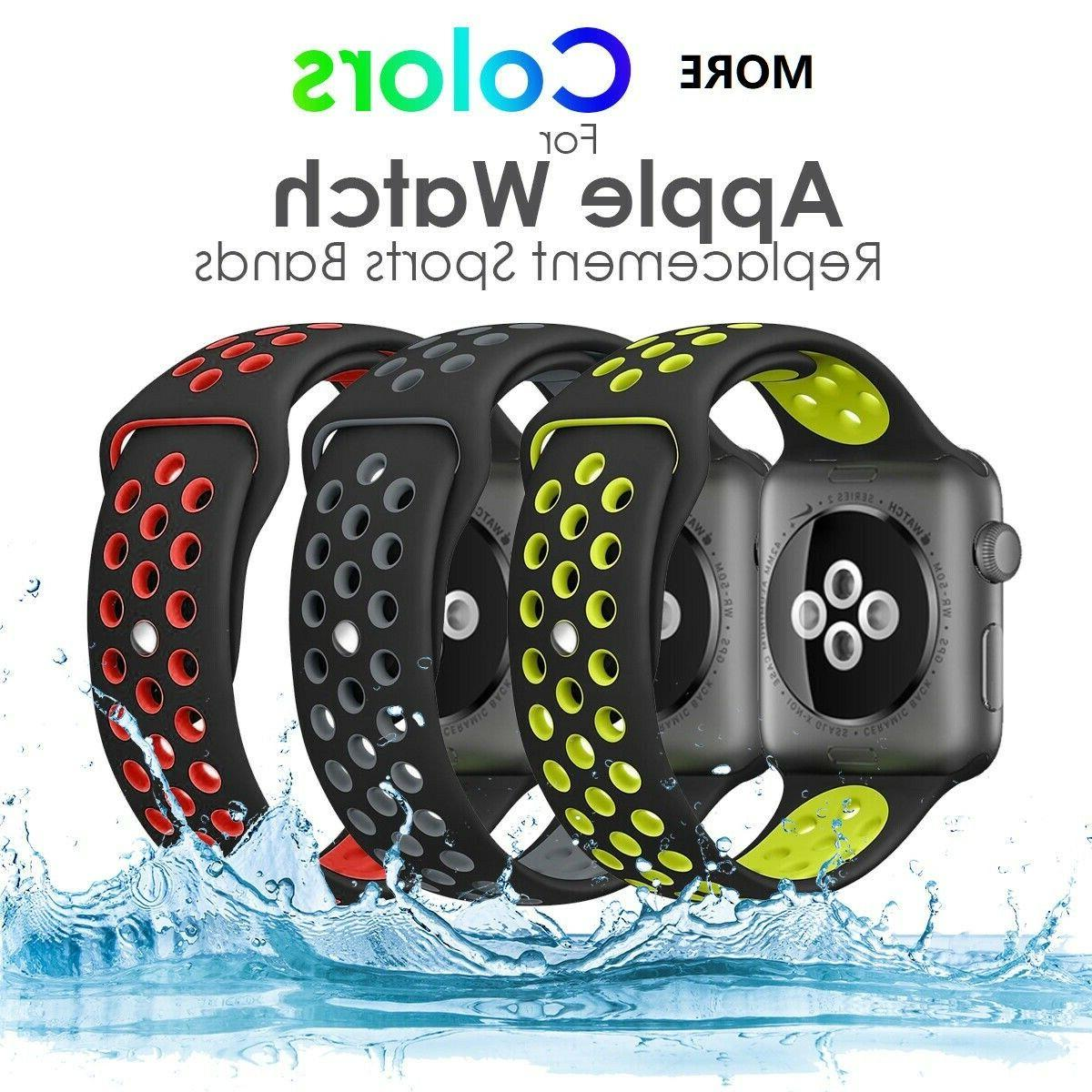 silicone sport watch band strap for apple